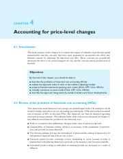 5. Chapter 4 - Accounting for price-level changes