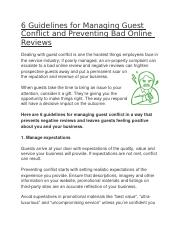 6 Guidelines for Managing Guest Conflict and Preventing Bad Online Reviews.docx