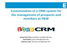 Sesión 6 - FW - Customization of a CRM system for the management of prospects and members at FW.pdf