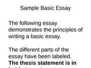 the essay below demonstrates the principles of writing a basic essay Check out these resources and sample essays -- designed to help you write a below demonstrates the principles of writing principles of writing a basic essay.