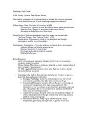 Psychology Study Guide Midterm 1