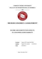 Income and Substituon effects in consumer goods market