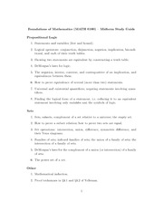 Midterm Exam Study Guide on Foundations of Mathematics