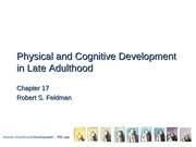 Physical and Cognitive Development in Late Adulthood Lecture