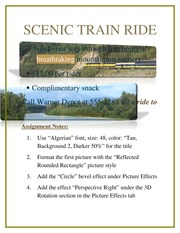 Word Chapter 1 Test, Train Ride Flyer