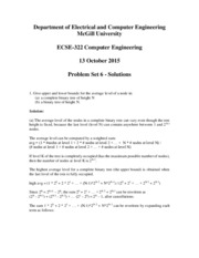 Problem Set 6 (Data Structures) Solutions Fall 2015