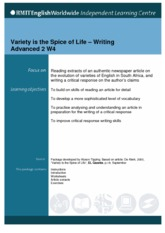 variety is spice of life essay Essays - largest database of quality sample essays and research papers on variety is the spice of life essay.