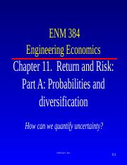 11.  Notes Part A  Probabilities  and Diversification