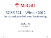 Lecture16 Unit Testing