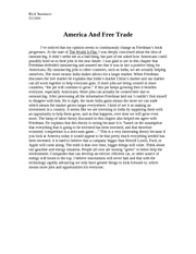 America And Free Trade