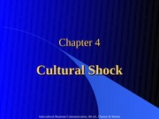 Chapter 4 Cultural Shock