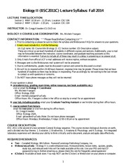 BSC 2011 Lecture Syllabus_2014Fall _Klowden_ (1)