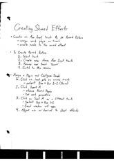 Shared Effects Notes