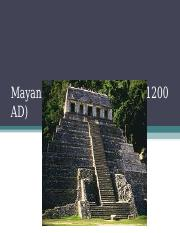 Mayan Kings and Cities (300-1200 AD)