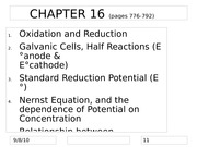 Chapter 16 Electrochemistry lecture notes