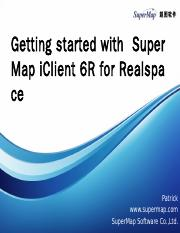 Getting Started with SuperMap iClient for Realspace.pptx