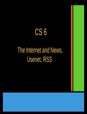 08_News and the Internet, RSS, USEnet