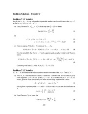 Problem Solutions,2nd Edition (STAT) 272