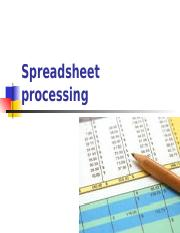 Spreadsheet+processing