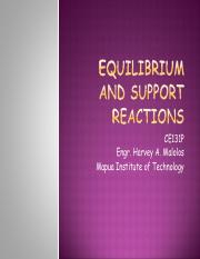 3_Equilibrium and Support Reactions