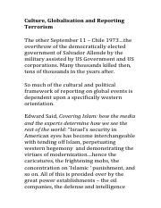 Culture, Gobalisation and Reporting Terrorism - notes.pdf