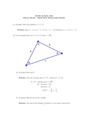 Math 32 Fall 2012 Final Exam Solutions