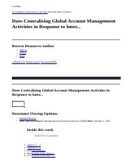 Does Centralising Global Account Management Activities in Response to Inter..._ GCU Library Resource