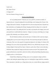 gcsu freshman essay