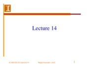 GE 331-Lecture 14