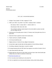 unit 1 lab 1 environment awareness questions