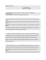 Bipolar Disorder-2 structure and function of human body discussion board.docx