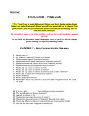 FINAL EXAM (LOMAX - PHED 2105 SP14).docx