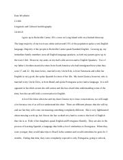 Lingustic and Cultural Autobiography .docx