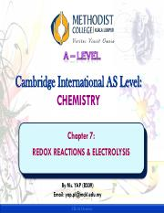 Chap 7 Redox Reactions & Electrolysis_Yap
