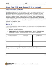 HOW FAR WILL YOU TRAVEL-WORKSHEET
