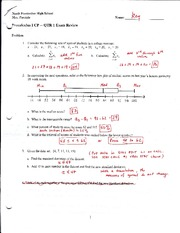 Exam 1 Review Answers