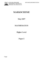 Mathematics HL - May 2007 TZ2 - P2 $