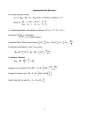 Equation sheet for exam 2