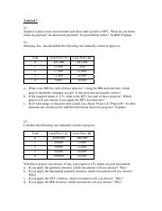 Tutorial 7 Questions