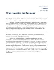 Understanding the Business - Mentor #2_