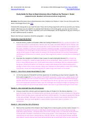 Study Guide for How to Read Literature Like a Professor by Thomas C.docx - Google Docs