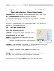 Mineral Identification Worksheet Answers - Nidecmege