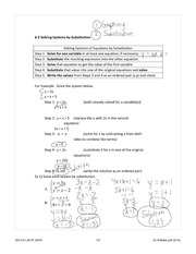 Substitution Method Notes