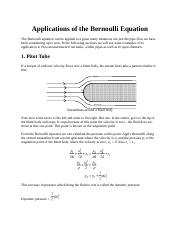 Applications of the Bernoulli Equation.docx