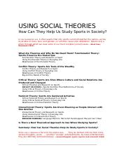Social Theories