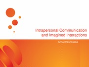 Intrapersonal Communication and Imagined Interactions