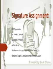 Signature Assignment.pptx