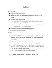 Case Study Guidelines (Spring 2012)