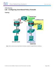 Week 4-1 Configuring Zone-Based Policy Firewalls