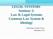 Legal System topic 2 Puja